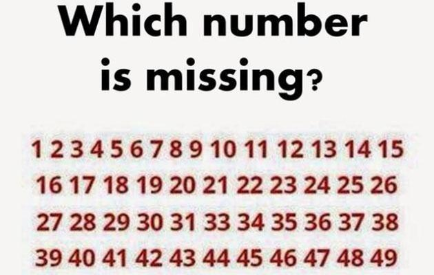 How quickly can you find the missing number? Photo: Playbuzz