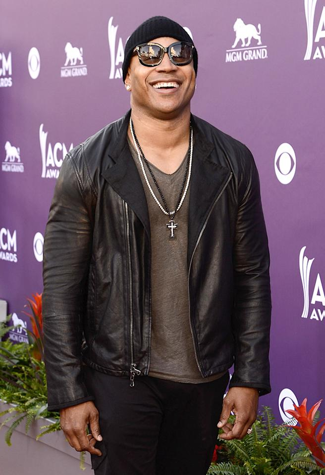 LAS VEGAS, NV - APRIL 07:  Rapper/actor LL Cool J arrives at the 48th Annual Academy of Country Music Awards at the MGM Grand Garden Arena on April 7, 2013 in Las Vegas, Nevada.  (Photo by Frazer Harrison/ACMA2013/Getty Images for ACM)