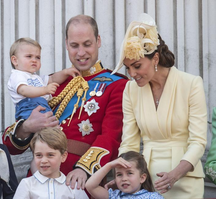 """<p>Along with the rest of the royal family, <a href=""""https://www.townandcountrymag.com/society/tradition/g27791365/prince-george-princess-charlotte-prince-louis-trooping-the-colour-2019-photos/"""" rel=""""nofollow noopener"""" target=""""_blank"""" data-ylk=""""slk:Prince George looked out on the crowd from Buckingham Palace balcony"""" class=""""link rapid-noclick-resp"""">Prince George looked out on the crowd from Buckingham Palace balcony</a> during the <a href=""""https://www.townandcountrymag.com/society/tradition/a10016954/trooping-the-colour-facts/"""" rel=""""nofollow noopener"""" target=""""_blank"""" data-ylk=""""slk:annual Trooping the Colour parade"""" class=""""link rapid-noclick-resp"""">annual Trooping the Colour parade</a>.</p>"""