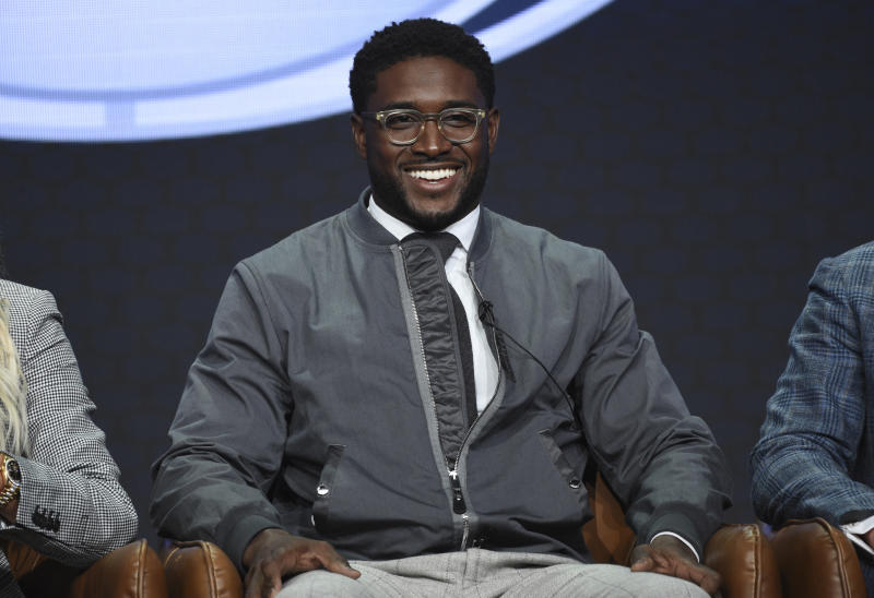 """Reggie Bush participates in Fox Sports' """"Rallying Fans for the Biggest Season in Sports"""" panel at the Television Critics Association Summer Press Tour on Wednesday, Aug. 7, 2019, in Beverly Hills, Calif. (Photo by Chris Pizzello/Invision/AP)"""