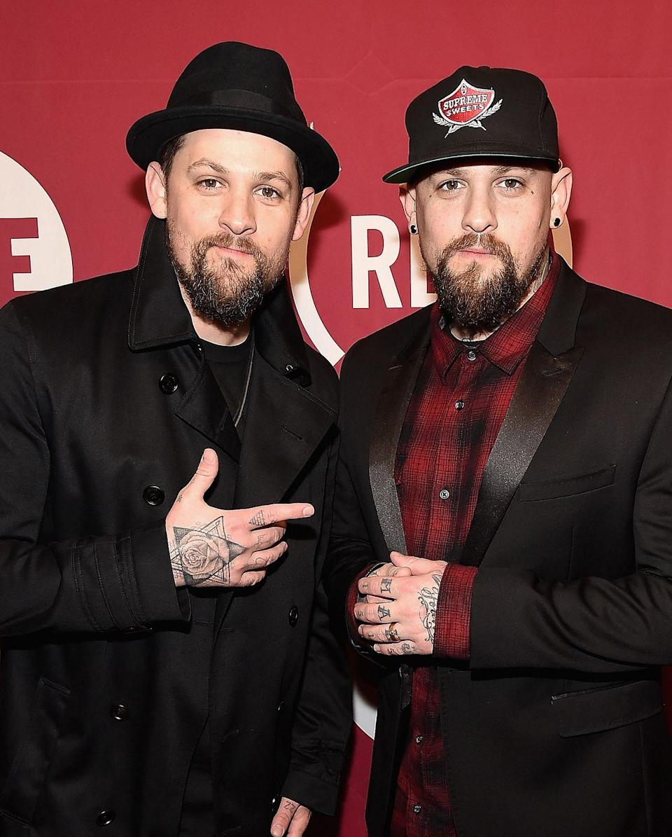 <p>As teenagers, this famous pair of rockers formed the band Good Charlotte back in 1996. These days, Benji is married to actress Cameron Diaz and serves as a judge on <em>The Voice Australia</em>, whereas his identical twin brother Joel is married to Nicole Richie and continues to produce music.</p>