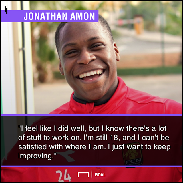 After breaking into the FC Nordsjaelland first team last fall, and impressing with the U.S. U-20s last month, Jonathan Amon is primed for a big 2018