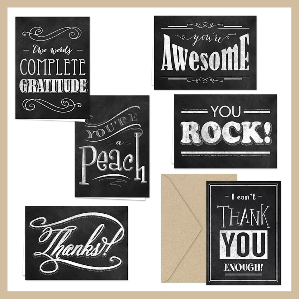 Say thank you with a thank you card (Photo: Target)