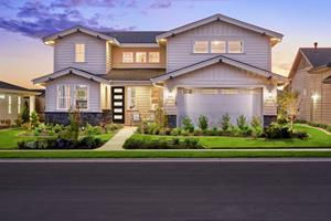A variety of home designs are offered in Toll Brothers Heirloom Ridge, now open.