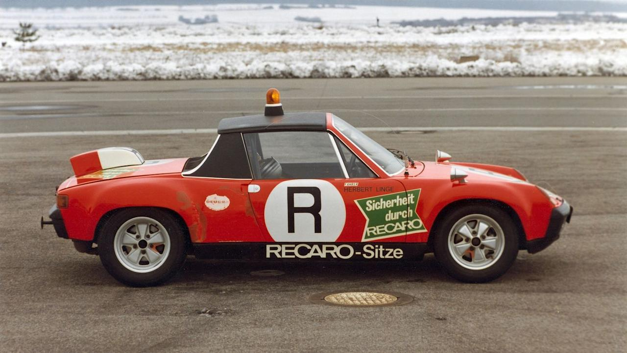 <p>This is the 914/6 GT. It's a flat-six model that was used as an on-track safety vehicle in 1972 for the Supreme National Sports Authority. </p>