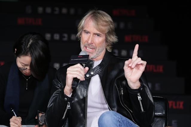Michael Bay attends the press conference for the world premiere of Netflix's '6 Underground' on December 02, 2019. (Photo by Han Myung-Gu/WireImage)