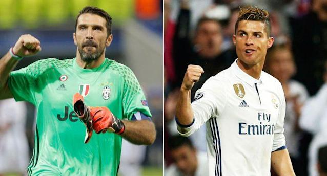 Buffon and Juve's defense clashes with Ronaldo and Real's attack.