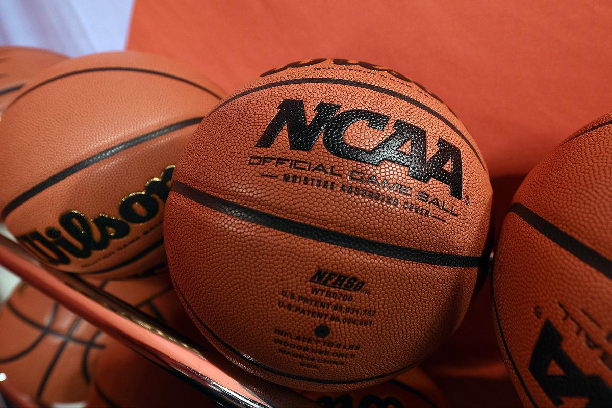 INDIANAPOLIS, IN - APRIL 03: Wilson NCAA basketballs are seen at Lucas Oil Stadium on April 3, 2015 in Indianapolis, Indiana. (Photo by Lance King/Getty Images)