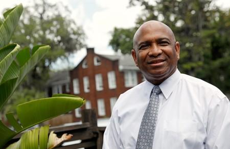 Georgia State Senator Lester Jackson, who has the dental contract at the Chatham County Jail, poses for a portrait in Savannah, Georgia