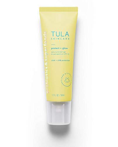 """<h2>Tula</h2><br>25% off select products<br><br><strong>Tula</strong> Skin Care Protect + Glow Daily Sunscreen Gel SPF 30, $, available at <a href=""""https://amzn.to/3zLZw6E"""" rel=""""nofollow noopener"""" target=""""_blank"""" data-ylk=""""slk:Amazon"""" class=""""link rapid-noclick-resp"""">Amazon</a>"""