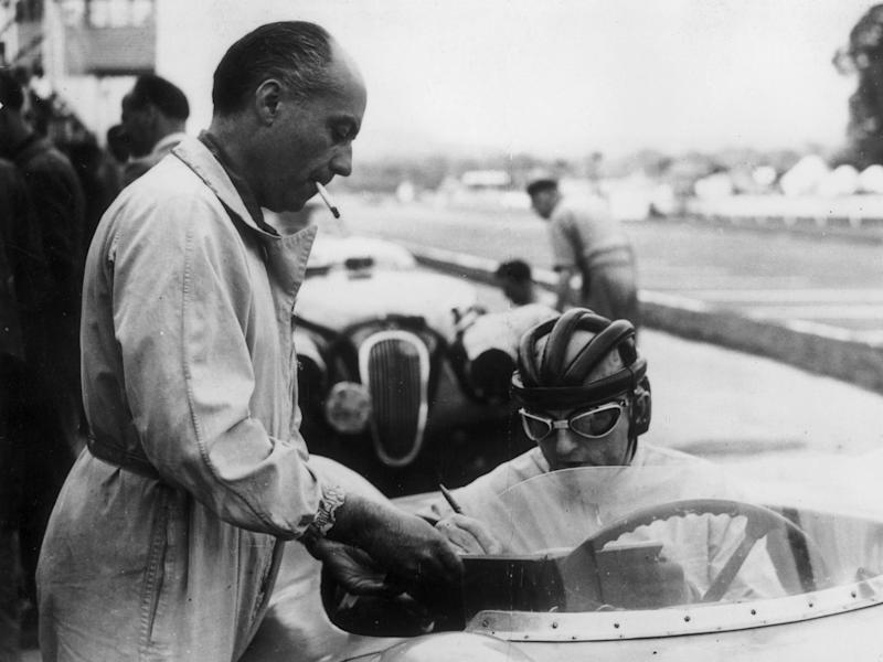 Levegh (left) and Philippe Etancelin at the International nine-hour endurance race at Goodwood in 1952Keystone/Getty
