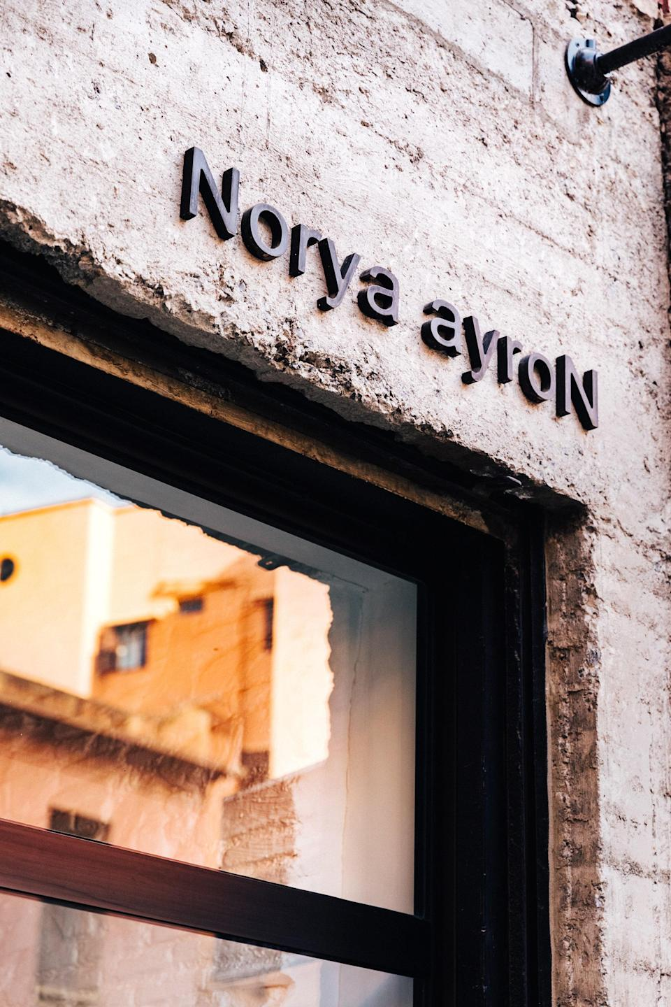 The storefront at Norya Aryon, favorited by A-listers
