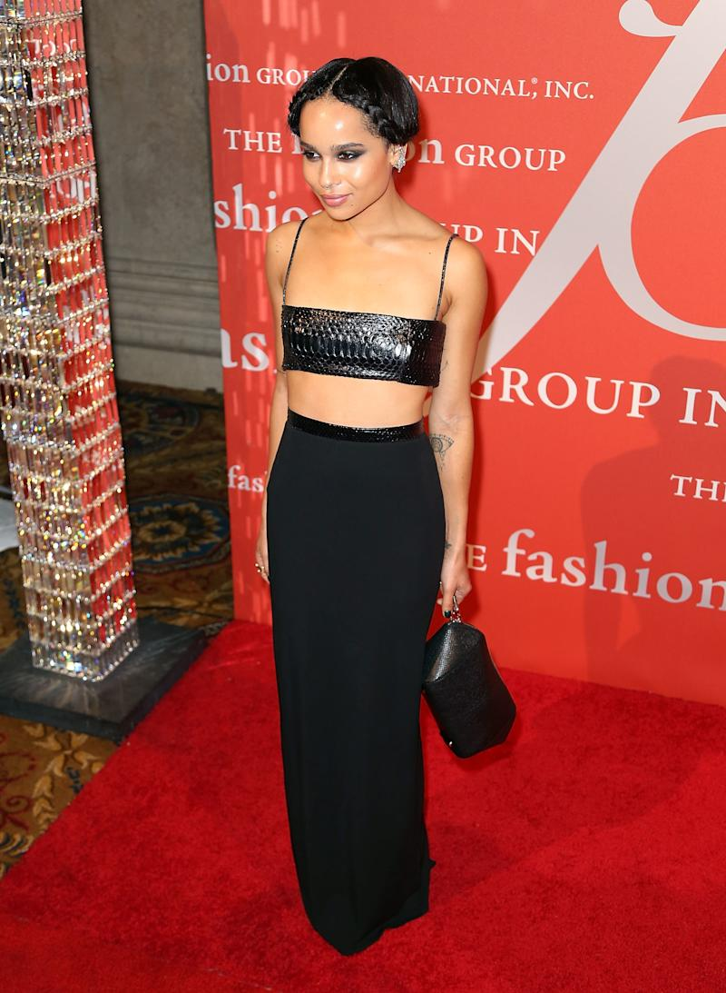 Kravitz attends the 30th annual Fashion Group International Night of Stars on October 22, 2013.