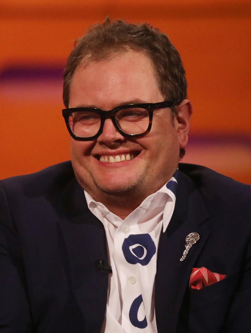 Alan Carr during the filming for the Graham Norton Show at BBC Studioworks 6 Television Centre, Wood Lane, London, to be aired on BBC One on Friday evening.