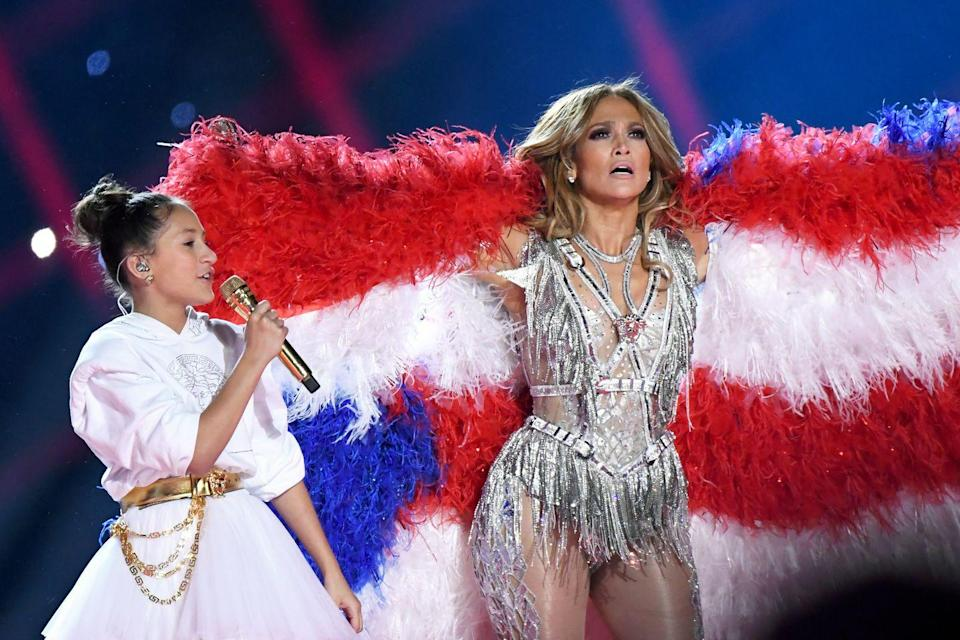 <p>There was a lot we loved about Jennifer Lopez and Shakira's joint half-time show at the 2020 Super Bowl, including when J.Lo's 11-year-old daughter, Emme, got to do something no other celebrity offspring has done: Sing with her mom during her once-in-a-lifetime performance. </p>