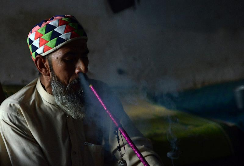 According to a 2013 UN survey, cannabis was the most widely consumed drug in Pakistan with around four million users, representing 3.6 percent of the population -- a figure that has drawn scepticism as reliable data can be hard to come by (AFP Photo/ABDUL MAJEED)