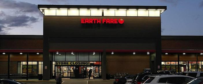An Earth Fare store going out of business in Williamsburg, Virginia.