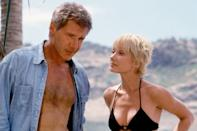 Harrison Ford was 56 and Anne Hench was 29 in 'Six Days Seven Nights' Age gap: 27 years