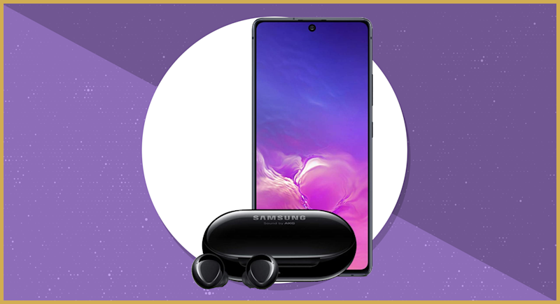This Samsung Galaxy S10 Lite and Samsung Galaxy Buds+ bundle is on sale for $600, or $200 off, today only. (Photo: Samsung)