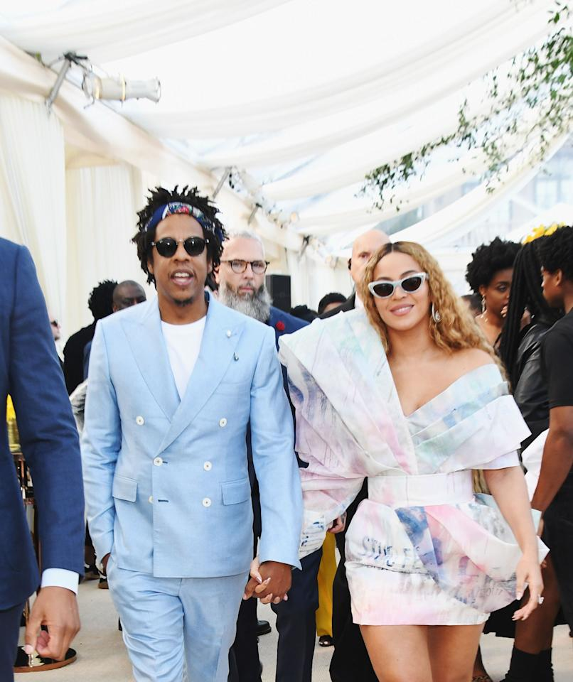 """<p>In 2012, music's ultimate power couple <a href=""""https://www.hollywoodreporter.com/news/beyonce-jay-z-obama-fundraiser-371456"""" target=""""_blank"""">raised a grand total of $4 million</a> for President Barack Obama's campaign. The two are <a href=""""https://www.oprahmag.com/life/relationships-love/g26836985/famous-celebrity-best-friends/"""" target=""""_blank"""">reportedly friends</a> with the former POTUS and his FLOTUS, Michelle Obama, and they <a href=""""https://www.vanityfair.com/news/2016/11/beyonce-jay-z-hillary-clinton-get-out-the-vote-concert"""" target=""""_blank"""">performed at a """"Get Out the Vote"""" concert</a> for former Secretary of State, <a href=""""https://www.oprahmag.com/entertainment/a26723345/what-hillary-clinton-is-doing-now-2020/"""" target=""""_blank"""">Hillary Clinton</a> in 2016.</p>"""