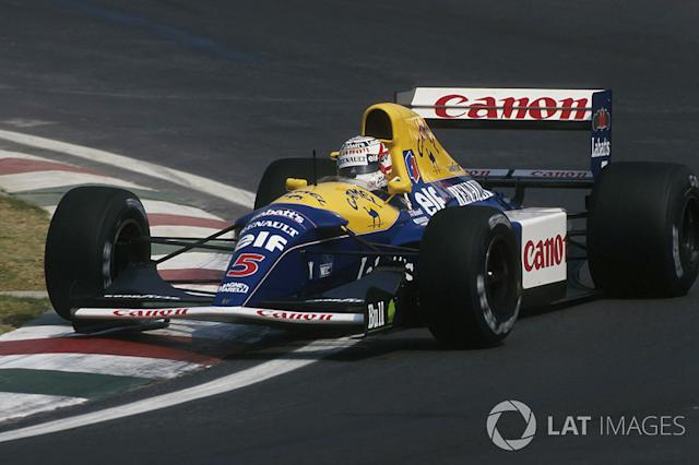 "1992: Williams-Renault FW14B <span class=""copyright"">Sutton Images</span>"