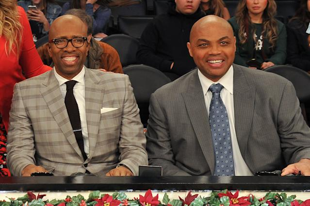 Kenny Smith and Charles Barkley have become NCAA tournament Selection Show regulars. They probably shouldn't be. (Getty)