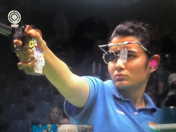 India shooter Yashaswini Deswal (Photo/ NRAI Twitter)