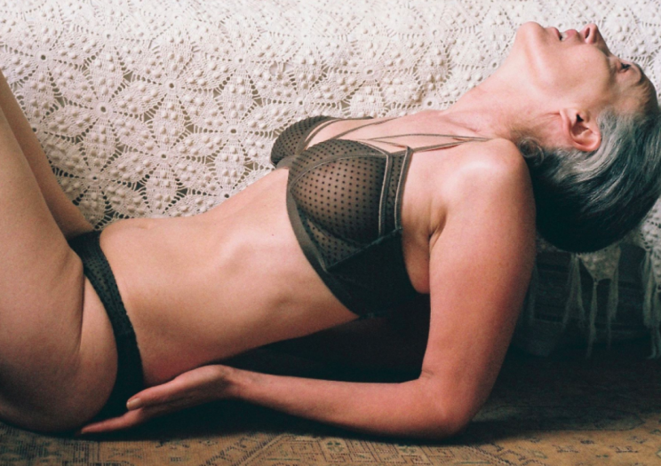 Label Lonely Lingerie have cast 57-year-old model Mercy Brewer in their latest campaign [Photo: Harry Were/Lonely Lingerie]