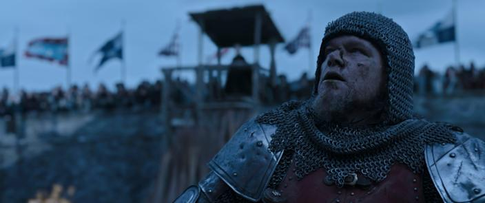 """Matt Damon stars as French knight Jean de Carrouges in the medieval drama """"The Last Duel."""""""