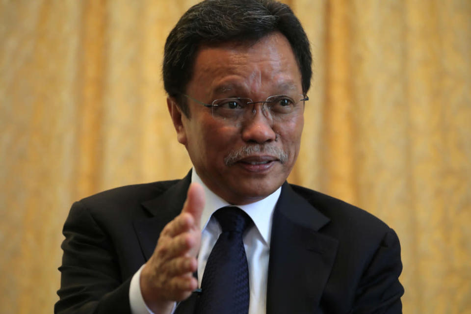 Datuk Seri Mohd Shafie Apdal reiterated Warisan's stance that economic collapse can only be overcome if the country's leaders reject political, religious and racial differences to cooperate in finding solutions to face the pandemic. — Reuters pic