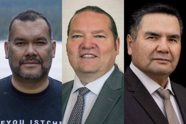 The candidates for deputy grand chief of the Grand Council of the Crees are Ashley Iserhoff, left, Donald Nicholls, centre, and Norman A. Wapachee, right. (CBC - image credit)