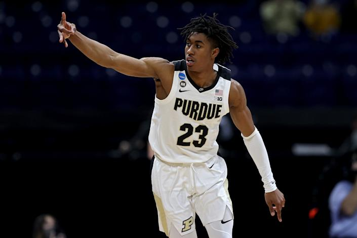 Jaden Ivey can score at all three levels and will be option one for Purdue next season. (Jamie Squire/Getty Images)