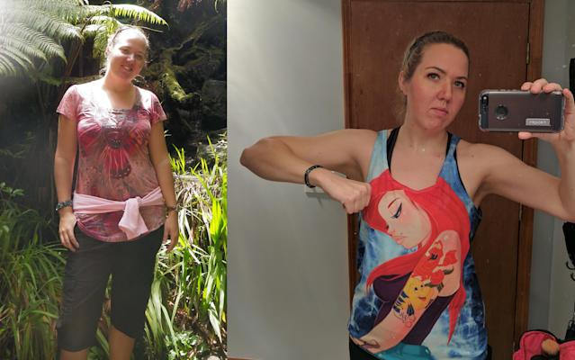 Heather Wright still practices the eating habits that helped her lose weight. (Photos: courtesy of Heather Wright)