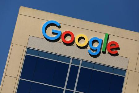 FILE PHOTO: The Google logo is pictured atop an office building in Irvine, California, U.S. August 7, 2017.   REUTERS/Mike Blake/File Photo