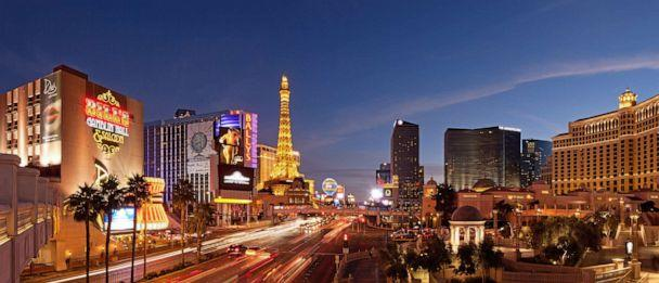 PHOTO: Las Vegas Boulevard with Hotels and Casinos and the newly erected City Center at dusk (Siegfried Layda/Getty Images)