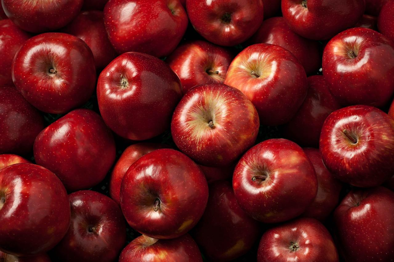 """An apple a day might keep the doctor away, but not if it rots before you can enjoy it. Apples can be stored at room temperature, but if you want greater longevity, store your apples in the refrigerator, preferably in the crisper drawer. Leaving an apple out at room temperature will cause it to ripen after a few days, but popping it into the fridge will keep it crisp for weeks. Find out <a rel=""""nofollow"""" href=""""http://www.rd.com/food/fun/apple-uses/1"""">12 things you can do with apples besides eat them</a>."""