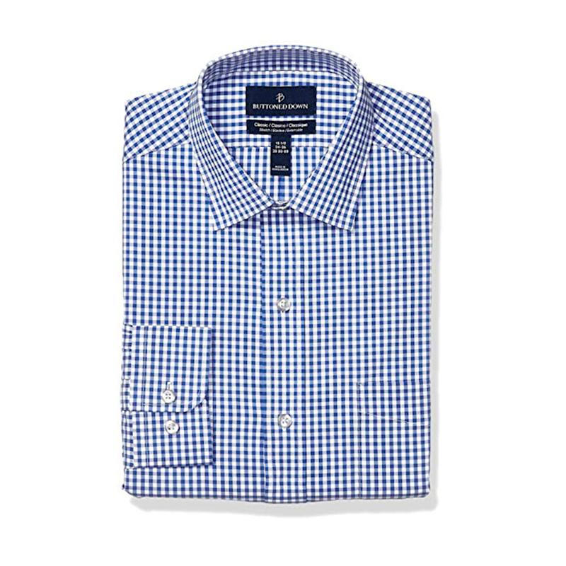 Buttoned Down Classic Fit Performance Tech Stretch Dress Shirt, Supima Cotton Easy Care. (Photo: Amazon)