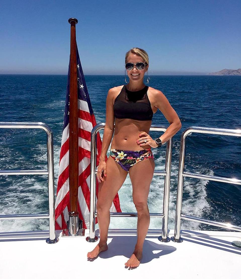 """<p>God bless America — and the country star's commitment to exercise. (Photo: <a href=""""https://www.instagram.com/p/BHkkGIwj6Kp/?taken-by=carrieunderwood"""" rel=""""nofollow noopener"""" target=""""_blank"""" data-ylk=""""slk:Instagram"""" class=""""link rapid-noclick-resp"""">Instagram</a>) </p>"""