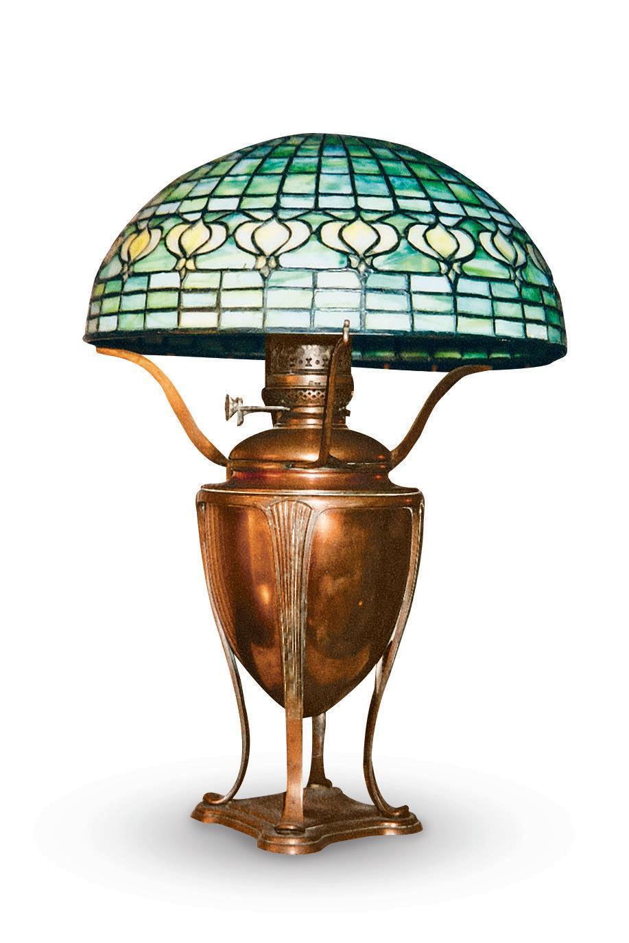 "<p><strong>What it was worth (2004):</strong> $12,000</p><p><strong>What it's worth now:</strong> $12,000</p><p>Compared to current <a href=""https://www.tiffanylamps.com/tiffany-table-lamps.html"" rel=""nofollow noopener"" target=""_blank"" data-ylk=""slk:Tiffany Table designs"" class=""link rapid-noclick-resp"">Tiffany Table designs</a>—which are sold for a few hundred dollars—<a href=""https://www.ebay.com/itm/Tiffany-Style-Table-Lamp-Double-Lit-Desk-Lamp-Stained-Glass-Home-Decor-Lighting/253135419951"" rel=""nofollow noopener"" target=""_blank"" data-ylk=""slk:this version"" class=""link rapid-noclick-resp"">this version</a> is quite a bit pricier.</p>"