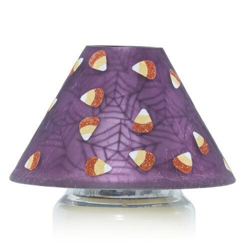 <p>If you like candy corn, you'll love this cute <span>Sweet Treats Jar Candle Shade</span> ($22).</p>