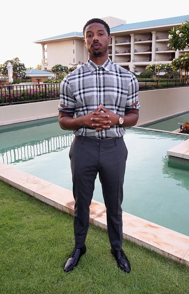 6374bf6c84e View photos. View photos. Even sweats are blessed on Michael B. Jordan.