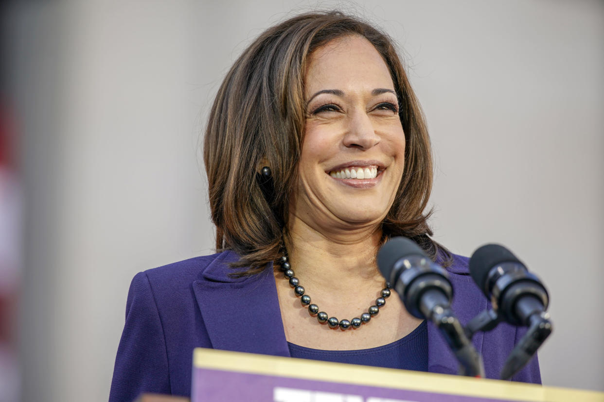 Democratic Sen. Kamala Harris, of California, formally launches her presidential campaign at a rally in her hometown of Oakland, Calif., Sunday, Jan. 27, 2019. (Photo: Tony Avelar/AP)