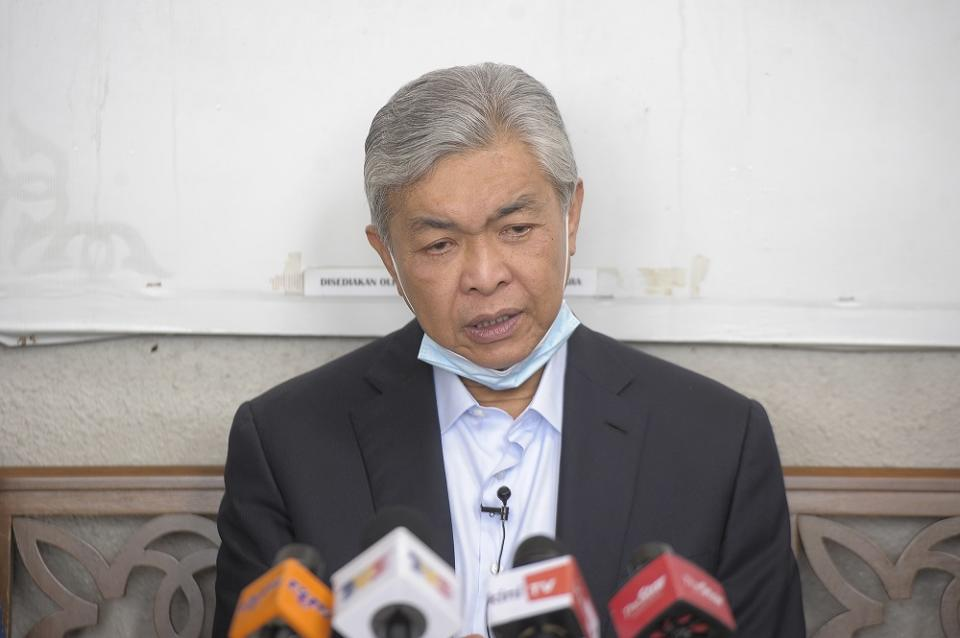 Umno's decision not to be a component party of PN was announced by Datuk Seri Ahmad Zahid Hamidi on Thursday. ― Picture by Shafwan Zaidon