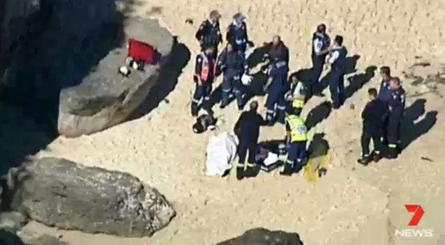 Crews assist at the shore at Nielsen Park. Source: 7 News
