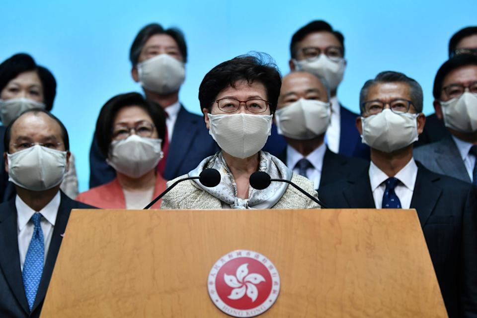 Hong Kong city leader Carrie Lam (AFP via Getty Images)