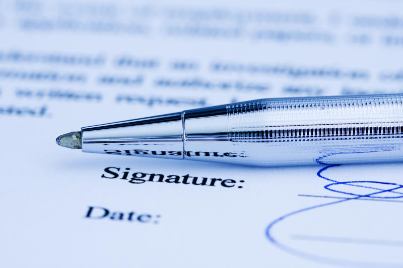 Signature on document.