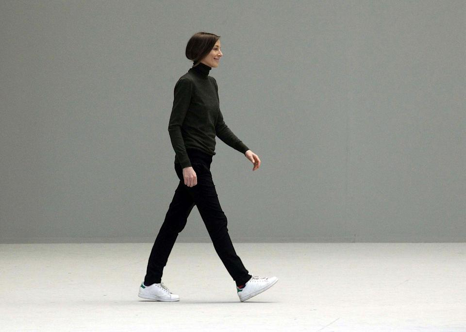 <p>Women everywhere hurried to buy a pair of adidas Stan Smiths when Philo took her bow at the SS11 show wearing them.</p><p>Her own best model, the preternaturally, cool designer proved sneakers could still look chic, styling them with tailored trousers and a crew-neck knit.</p><p>Philo also inspired a number of women, especially those working in fashion, to swap heels for flats by offering a Céline take on them in 2012. Yet another timeless style still available from Celine (sans accent) by Hedi Slimane.</p>
