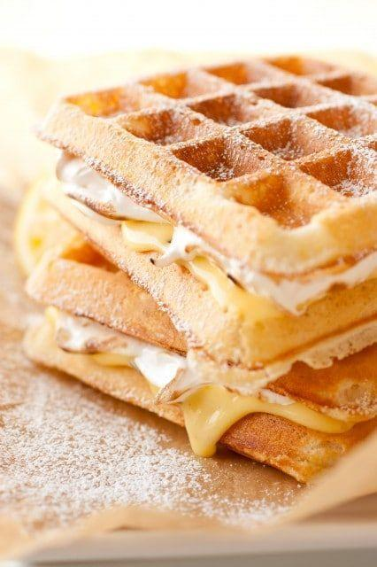 """<p>We're having pie for breakfast, it's casual.</p><p>Get the recipe from <a href=""""http://www.cookingclassy.com/2013/02/lemon-meringue-pie-stuffed-waffles/"""" rel=""""nofollow noopener"""" target=""""_blank"""" data-ylk=""""slk:Cooking Classy"""" class=""""link rapid-noclick-resp"""">Cooking Classy</a>.<br></p>"""