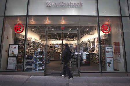 A RadioShack store is pictured in the Manhattan borough of New York