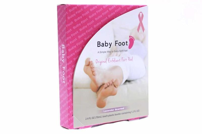 """Baby Foot is a revolutionary Japanese foot exfoliant that will make your feet as smooth and soft as a baby's foot. And during the month of October,10% of all proceeds are donated to the American Cancer Society. Get it <a href=""""https://www.amazon.com/Baby-Foot-Breast-Cancer-Limited/dp/B076125G4M/ref=lp_6497267011_1_8_a_it?srs=6497267011&ie=UTF8&qid=1507574111&sr=8-8"""" target=""""_blank""""><strong>here</strong></a>."""